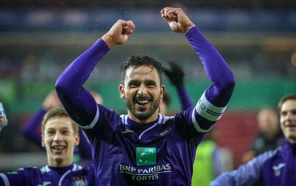 De vreugde was groot bij Anderlecht na de 1-2 bij Zulte Waregem. Chadli was de beste bezoeker en zorgde voor de 0-1.