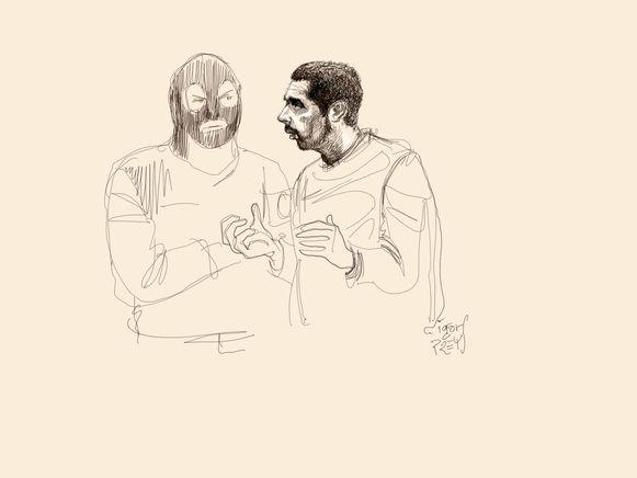 Nemmouche (R) en Bendrer worden beschuldigd van de aanslag op het Joods Museum.