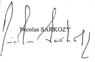 La Signature De Sarkozy Qui Fait Couler Beaucoup D Encre Foto 7sur7 Be