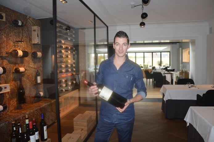 Chef-kok Kevin Graf in restaurant De Bakermat.