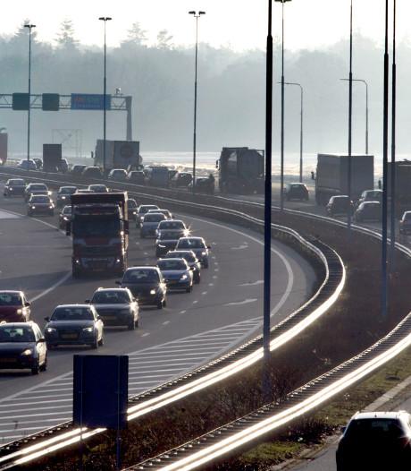 A58 bij Oirschot weer open na ongeluk, grote vertraging voorbij