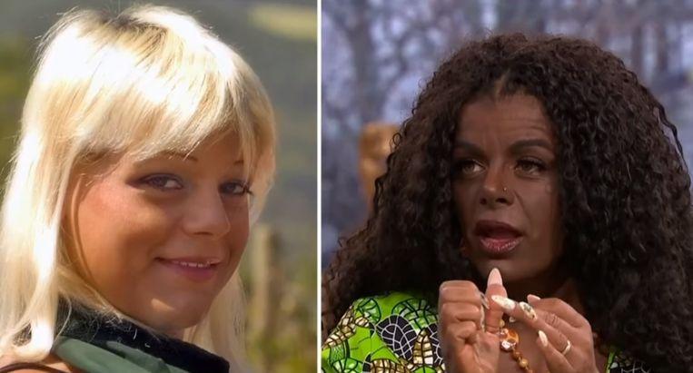 Martina Big, voor en na de transformatie.