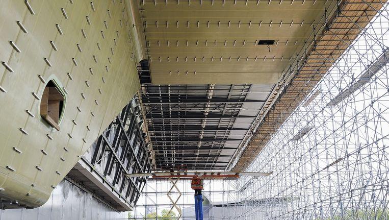 De contouren van het nieuwe Stedelijk Museum in Amsterdam. © anp Beeld