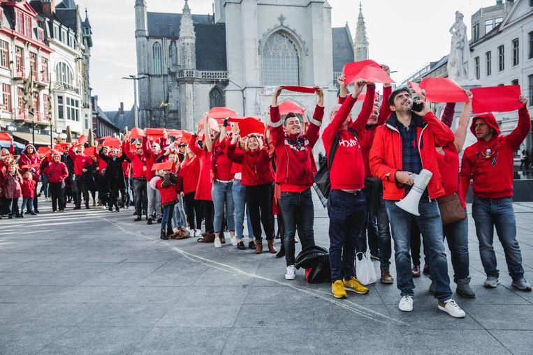 Geen vakbondsactie, wel een actie tegen HIV