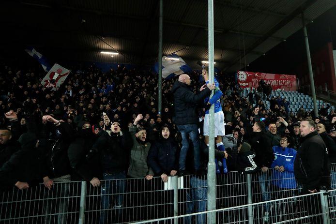 Supporters FC Den Bosch. Archiefbeeld ter illustratie.