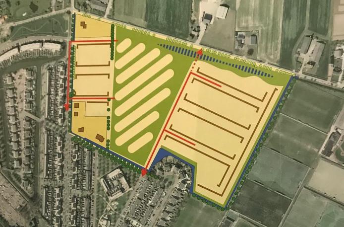 Hier verrijst nieuwbouwwijk Oijense Zij Noord. Oss onderzoekt hoe verkeer het best in en uit de wijk kan.