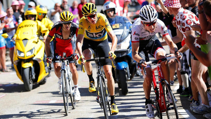 v.l.n.r.: Porte, Froome, Mollema
