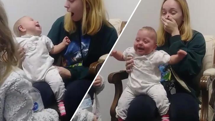 Baby (11 maanden) kan voor het eerst goed horen