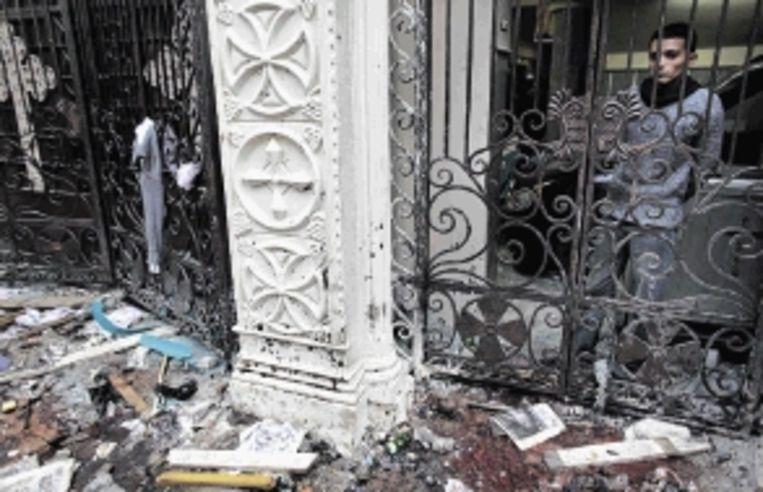 Koptische kerk in Alexandrië, doelwit van de aanslag op 1 januari. (FOTO AP ) Beeld AP