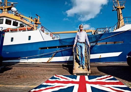 Gerard van Balsfoort, voorzitter van de redersvereniging voor zeevisserij.