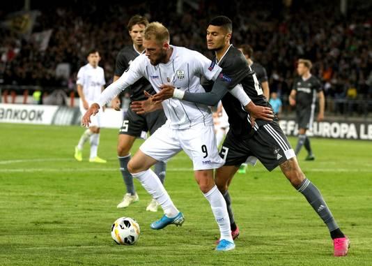 Björn Johnsen (rechts) in actie voor Rosenborg.