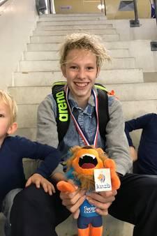Gabriel uit Kockengen zwemkampioen met een geleend brilletje