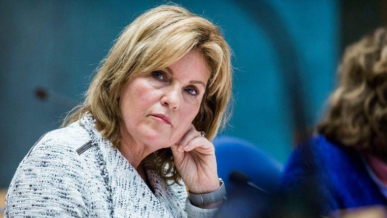 Pia Dijkstra (D66) tijdens het debat over de wet op de orgaandonatie. Beeld anp