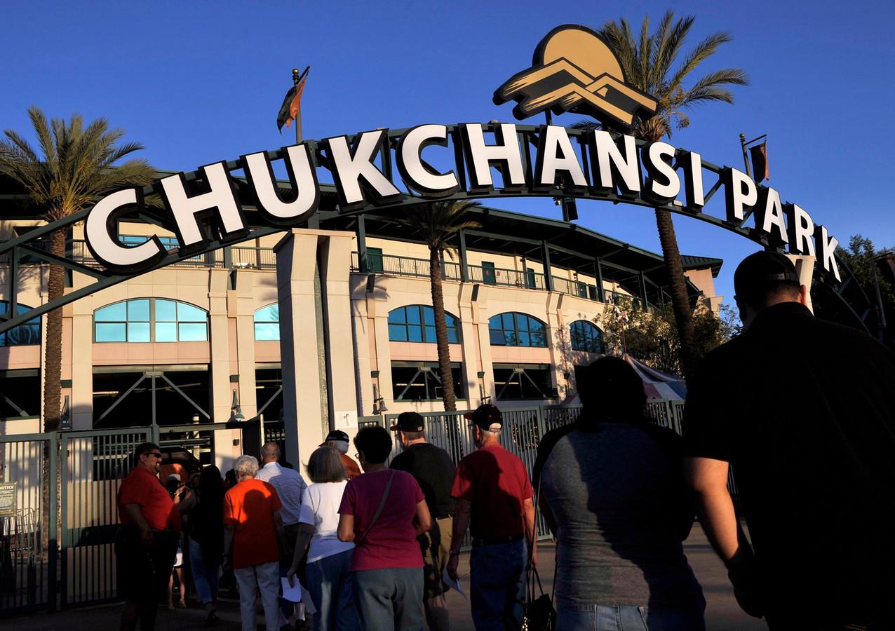 Het stadion van de Fresno Grizzlies in Fresno.