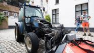 Tractor vat vuur in Begijnhof