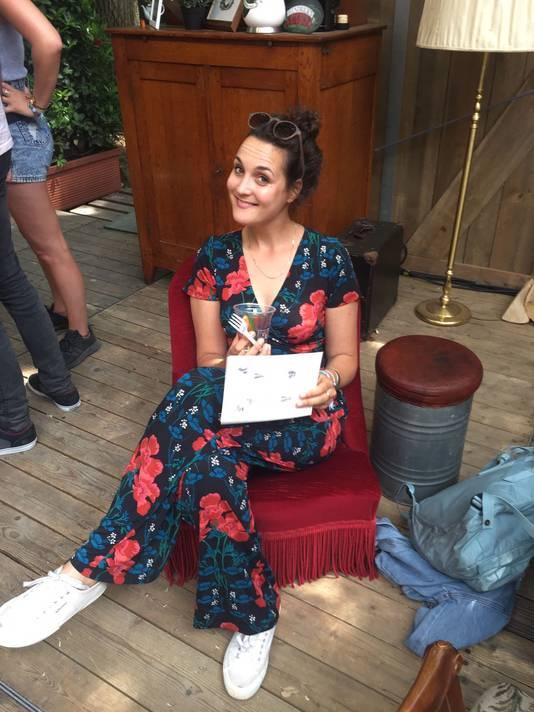 Nadia Tammes Buirs (28) tijdens het Down The RabbitHole Festival afgelopen weekend.