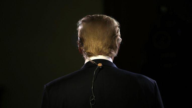 Donald Trump na het debat vannacht Beeld afp