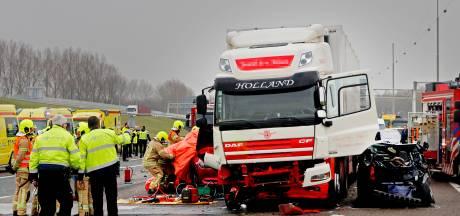 Gevangenisstraf voor appende vrachtwagenchauffeur die dodelijke crash veroorzaakte