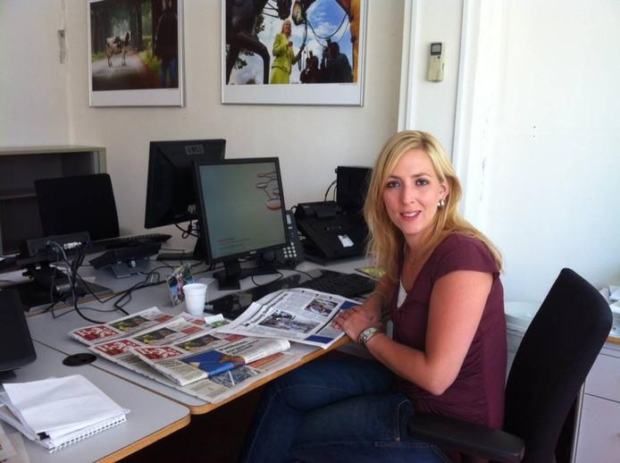 Lilian Marijnissen aan het werk als hoofdredacteur van BD/Oss