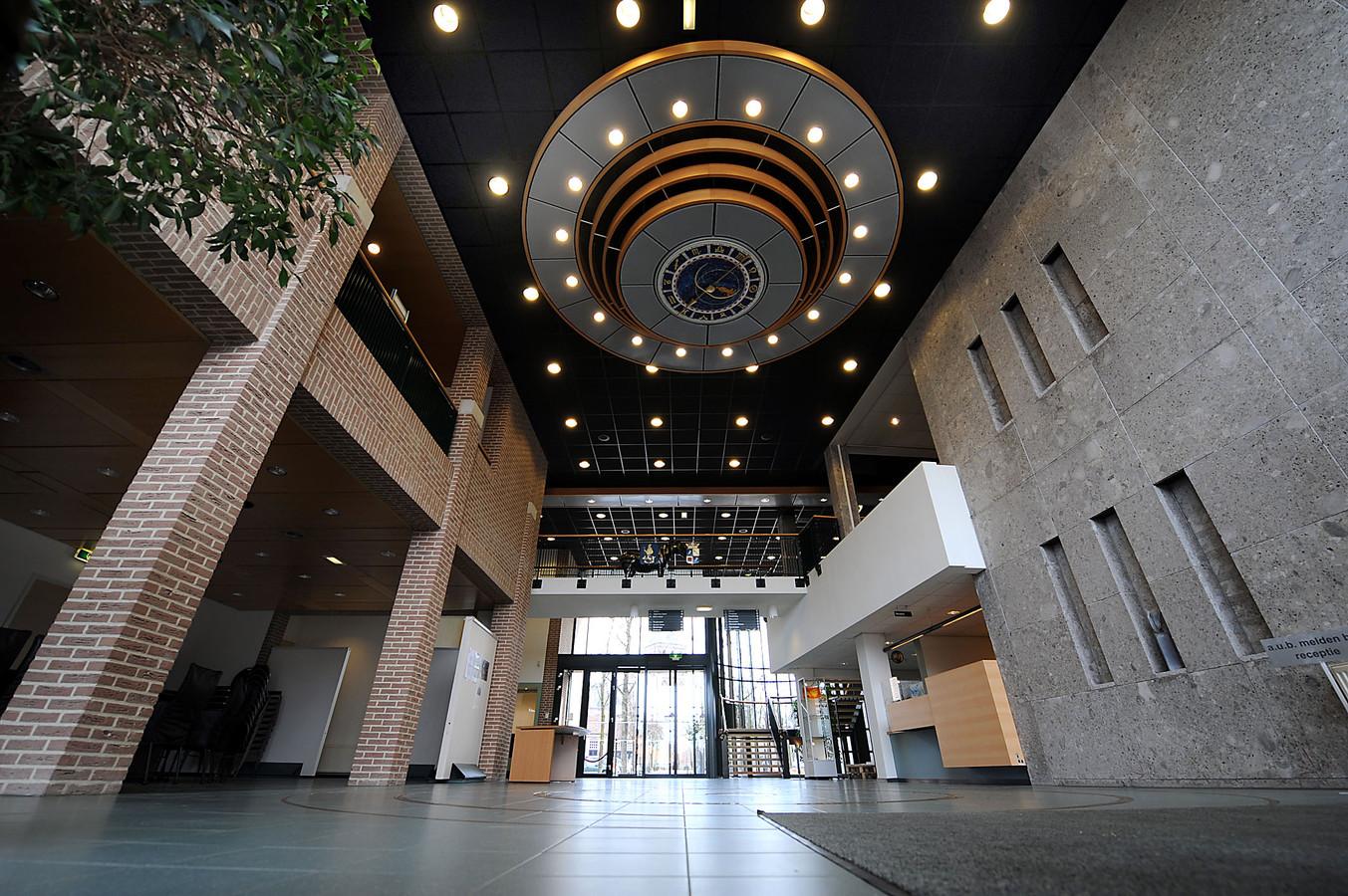 De hal van het gemeentehuis in Sint Anthonis.