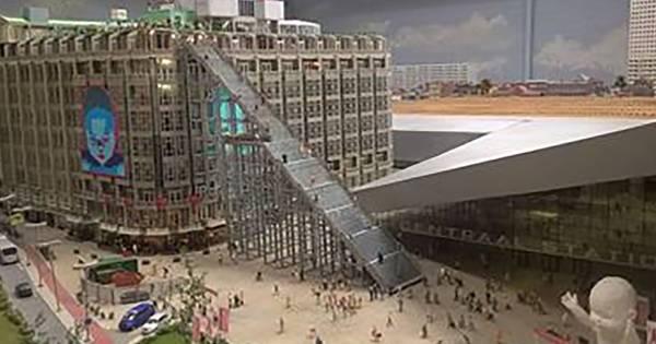 trap bij rotterdam cs nu al te zien in miniatuurversie