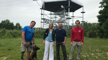 Een beetje Ardennen in Aalst: spectaculair touwenparcours van 16 meter hoog siert skyline Kapellekensbaan