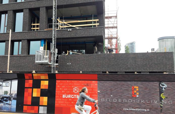 De bouw van appartementen aan de Bilderdijklaan in Eindhoven.