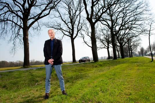 Ruurloër Jan Zappeij is één van de aanjagers van het protest tegen de massale bomenkap langs de N319 tussen Ruurlo en Groenlo.