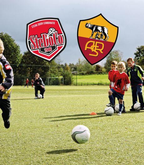 Droomkans voor voetballertjes. Hier houdt AS Roma een trainingskamp voor de jeugd
