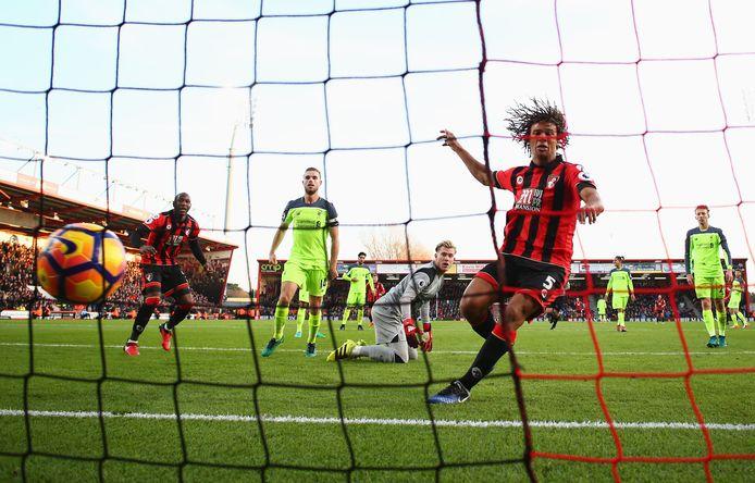 De winnende goal van Aké.