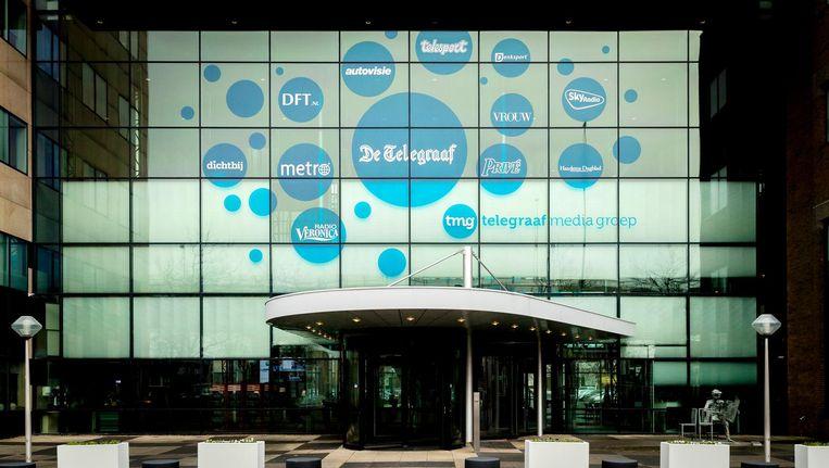 Exterieur van het pand van multimediabedrijf Telegraaf Media Groep. Beeld anp