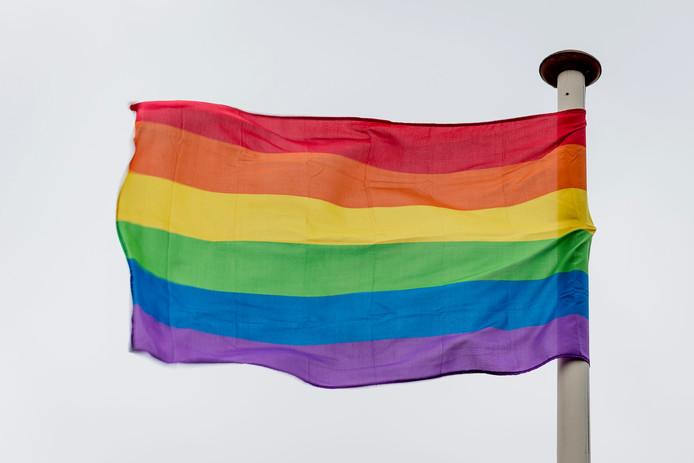 Ook de horeca in de Hengelose binnenstad hijst vrijdag op Coming Out Dag de regenboogvlag.