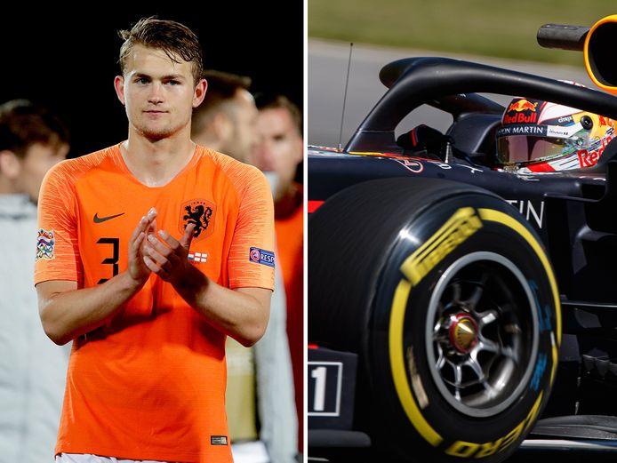 Matthijs de Ligt en Max Verstappen.