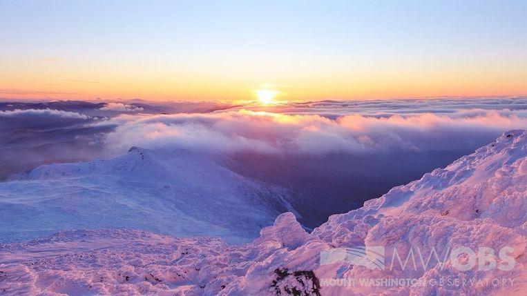 Het prachtige uitzicht vanop de top van Mount Washington.
