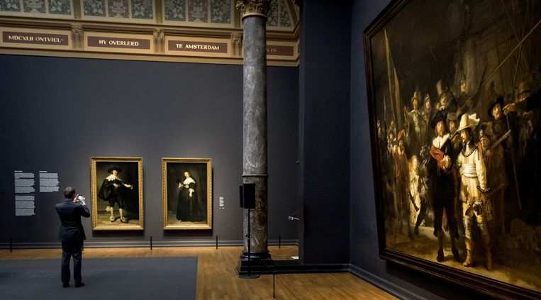De portretten hangen in de eregalerij van het museum Beeld anp