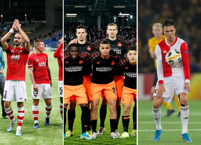 AZ, PSV en Feyenoord.