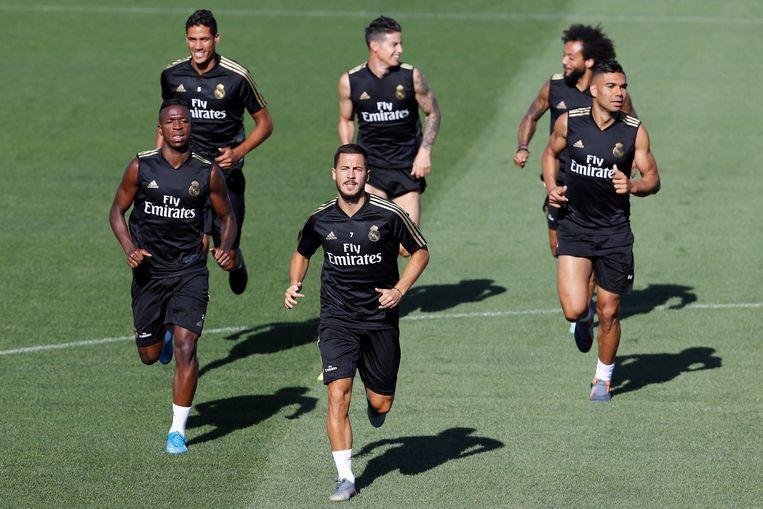 Eden Hazard vandaag op training.