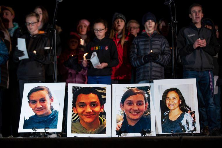 Foto's van de slachtoffers in Utah: Consuelo Alejandra Haynie (52) en haar drie kinderen, Maylan (12), Mathew (14) en Alexis (15).