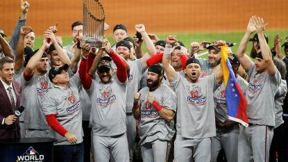 Washington Nationals winnen voor het eerst World Series baseball