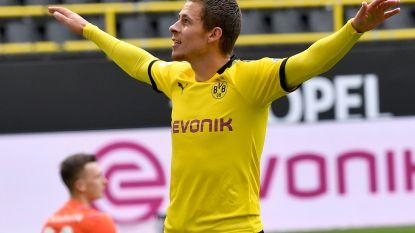 Applaus moest hij er zelf bij fantaseren: Thorgan Hazard met goal en assist meteen op afspraak in vlotte zege Dortmund