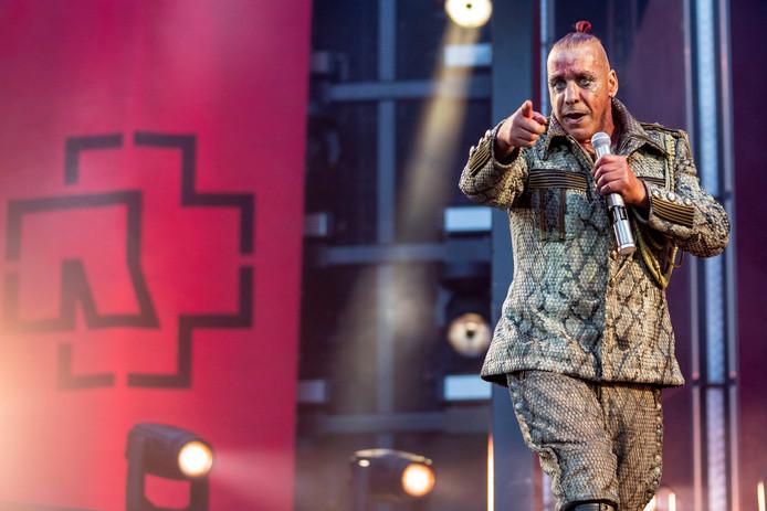 Till Lindemann, le chanteur de Rammstein.