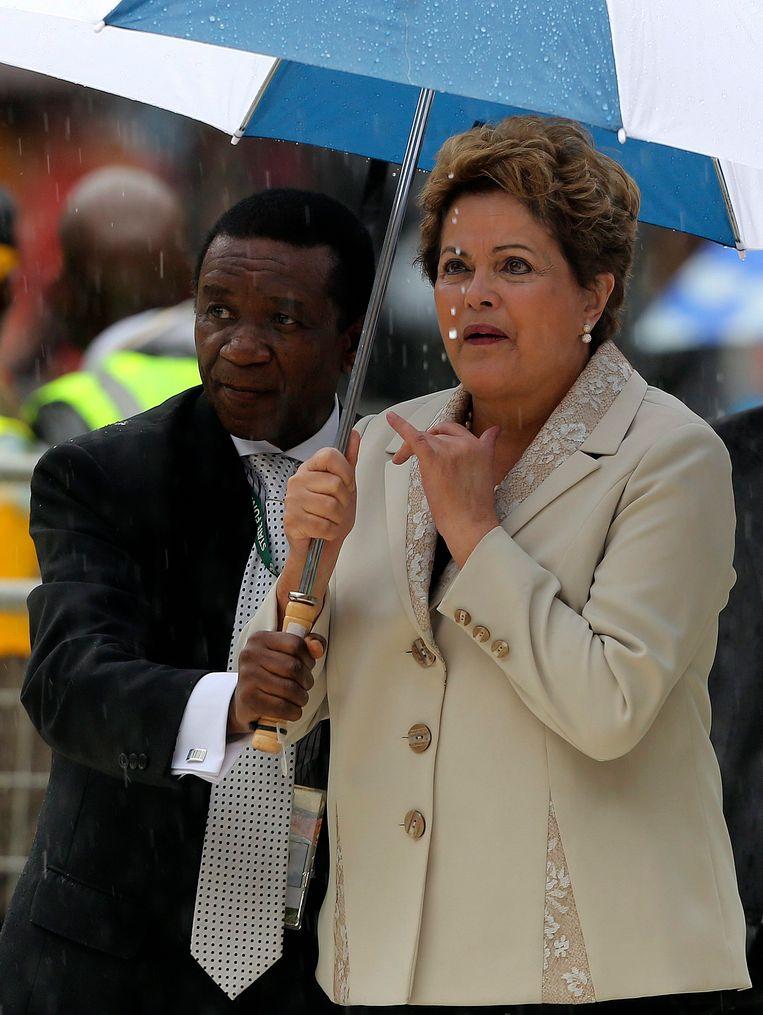 De Braziliaanse president Rousseff in Johannesburg. Beeld reuters