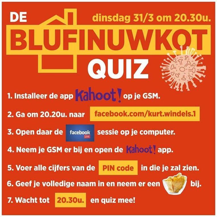 De handleiding voor de 'Bluf in uw kot'-quiz.