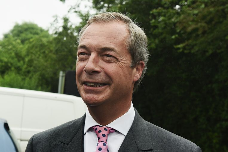 Nigel Farage Beeld getty