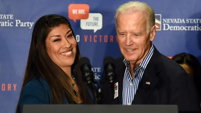 Lucy Flores et Joe Biden