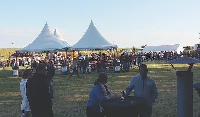 Het festivalterrein in Hansweert.