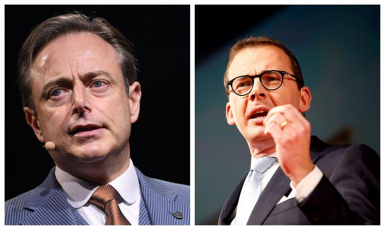 N-VA-voorzitter Bart De Wever (l.) en CD&V-voorzitter Wouter Beke (r.).
