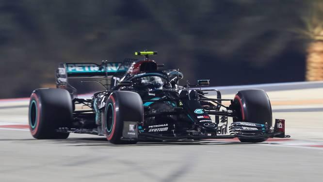 Bottas pakt pole in Bahrain, Russell en Verstappen vertrekken in zijn zog