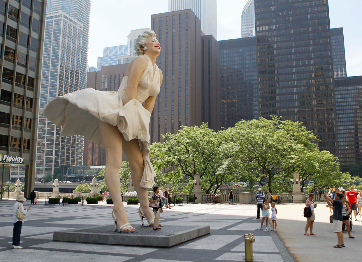 Archiefbeeld, Forever Marilyn van maker Seward Johnson.