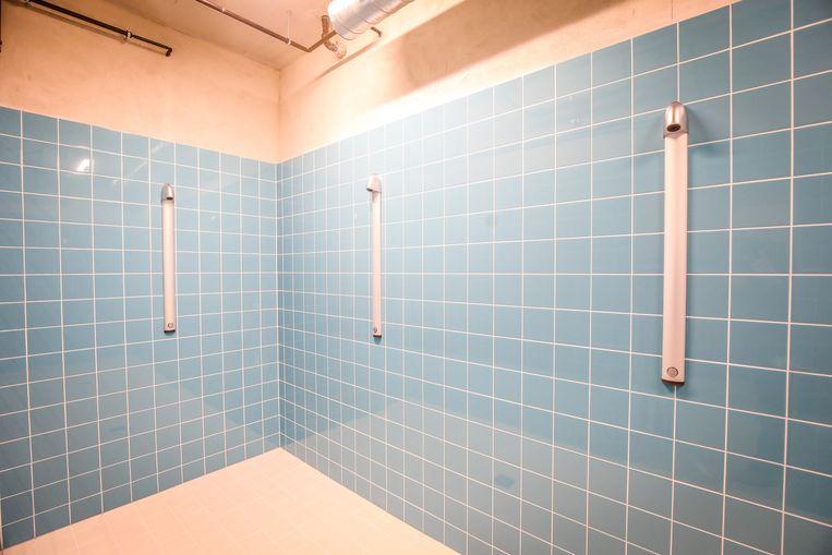 De nieuwe douches.
